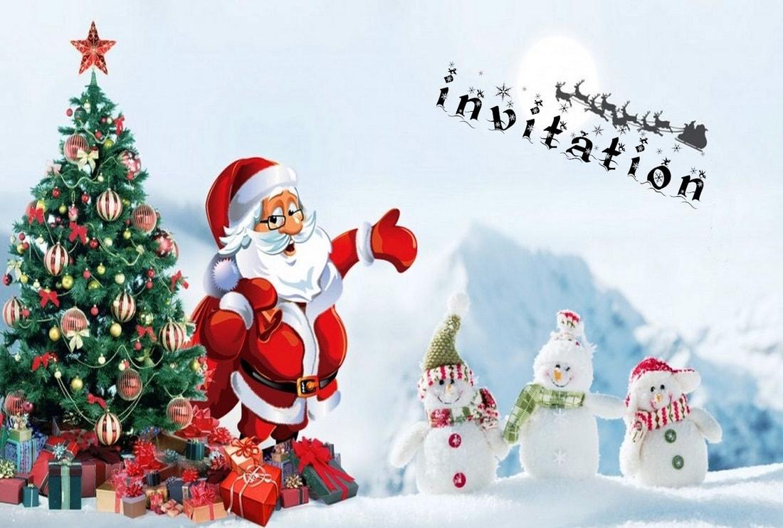 Carte invitation SMS Noël   CARTE DE VŒUX SMS GRATUITE
